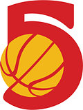 Basketball Ball Five Retro