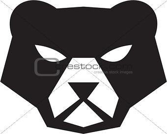 American Black Bear Head Retro