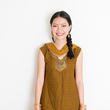 Indian Chinese female in sari