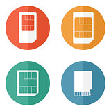 Sim card and SD card icons