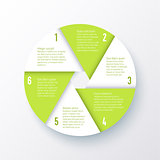 Vector elements for infographics. Template of a pie chart.