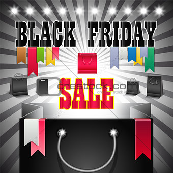 Black Friday sale colorful background.