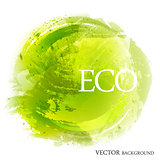 Green eco abstract on white background.
