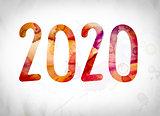 2020 Concept Watercolor Word Art