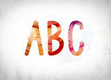 ABC Concept Watercolor Word Art