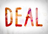 Deal Concept Watercolor Word Art