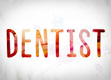 Dentist Concept Watercolor Word Art