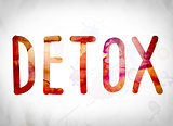 Detox Concept Watercolor Word Art