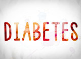 Diabetes Concept Watercolor Word Art