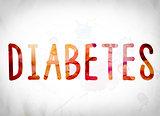 Diabetes Concept Watercolor Word Art