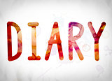 Diary Concept Watercolor Word Art