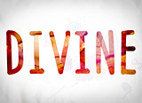 Divine Concept Watercolor Word Art