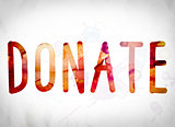 Donate Concept Watercolor Word Art