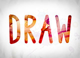 Draw Concept Watercolor Word Art