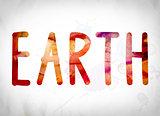 Earth Concept Watercolor Word Art