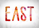 East Concept Watercolor Word Art