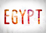 Egypt Concept Watercolor Word Art