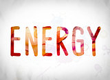 Energy Concept Watercolor Word Art