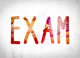 Exam Concept Watercolor Word Art
