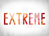Extreme Concept Watercolor Word Art