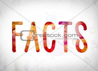 Facts Concept Watercolor Word Art