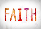 Faith Concept Watercolor Word Art