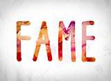 Fame Concept Watercolor Word Art