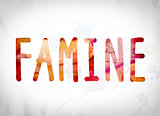 Famine Concept Watercolor Word Art