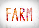 Farm Concept Watercolor Word Art