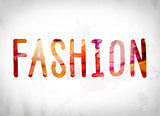 Fashion Concept Watercolor Word Art