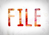 File Concept Watercolor Word Art