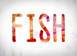 Fish Concept Watercolor Word Art