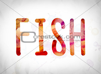 Fish Concept Watercolor Word Art