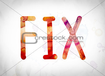 Fix Concept Watercolor Word Art