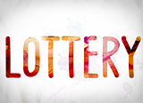 Lottery Concept Watercolor Word Art
