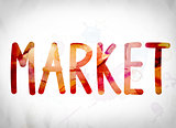 Market Concept Watercolor Word Art