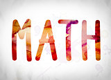 Math Concept Watercolor Word Art