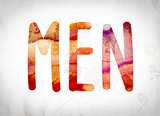 Men Concept Watercolor Word Art