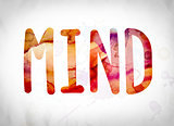 Mind Concept Watercolor Word Art