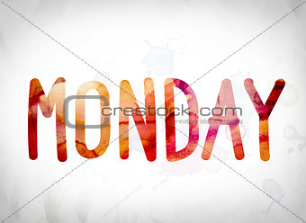 Monday Concept Watercolor Word Art