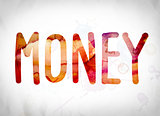 Money Concept Watercolor Word Art