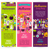 Halloween Party Invitation Flyers
