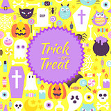 Halloween Trick or Treat Trendy Poster