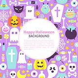 Happy Halloween Trendy Background