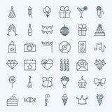 Line Birthday Party Icons