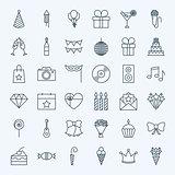 Line Birthday Party Icons