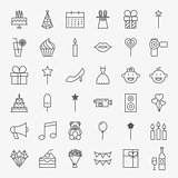 Party Line Icons Set