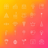 Party Time Line Icons