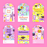 Trendy Halloween Gift Tag Labels