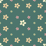 Vintage flower seamless pattern background.